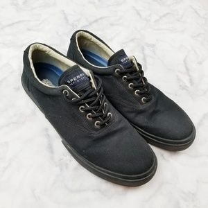 Sperry|Black Suede Casual Sneakers